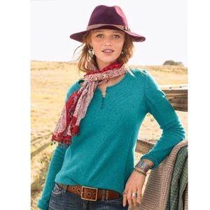 Sundance Henley Sweater Size Large
